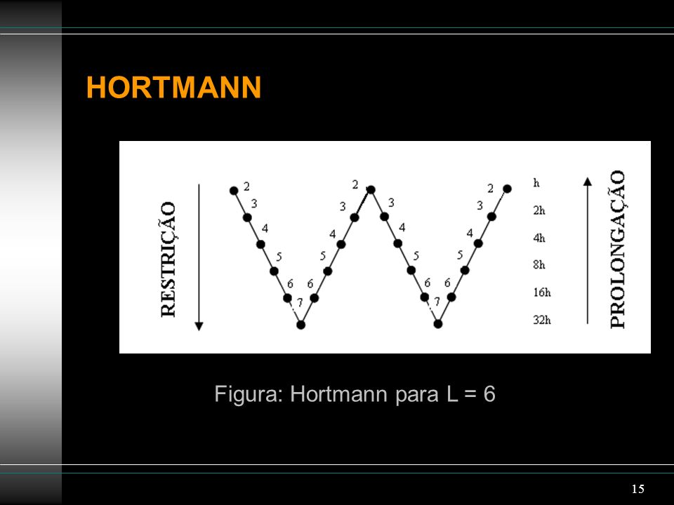 15 HORTMANN Figura: Hortmann para L = 6