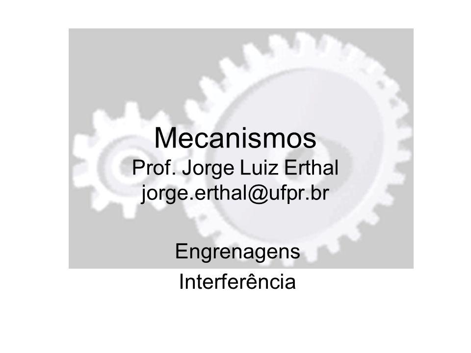 Mecanismos Prof. Jorge Luiz Erthal jorge.erthal@ufpr.br Engrenagens Interferência