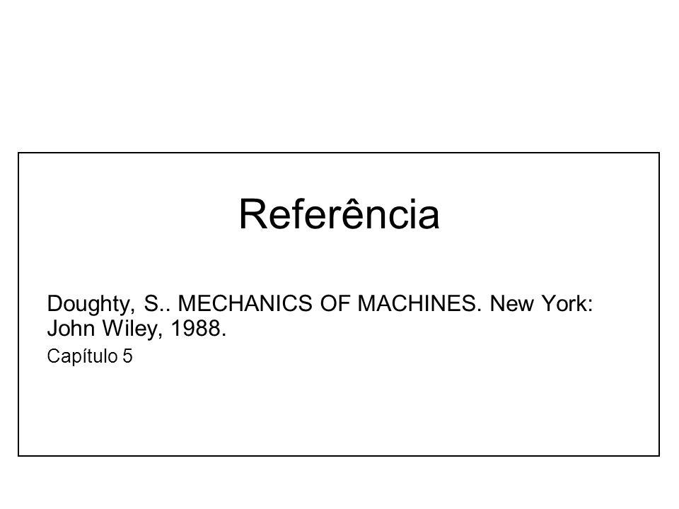 Referência Doughty, S.. MECHANICS OF MACHINES. New York: John Wiley, 1988. Capítulo 5