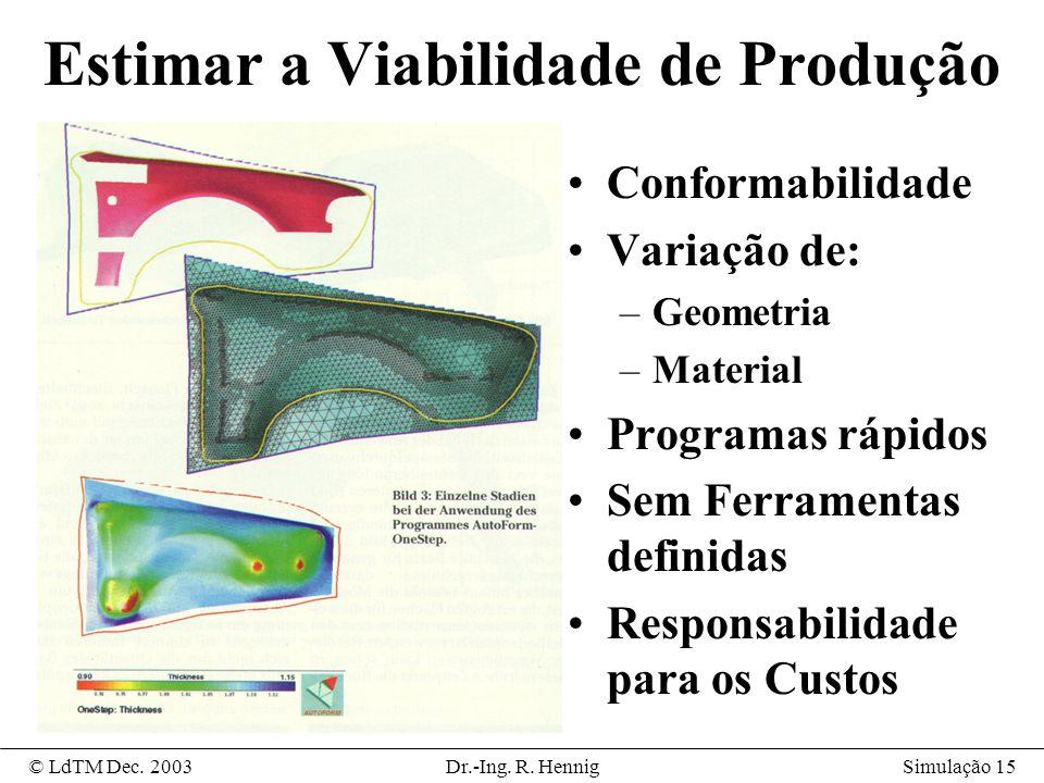 Simulação 15© LdTM Dec.2003Dr.-Ing. R.