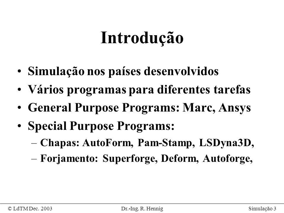 Simulação 14© LdTM Dec.2003Dr.-Ing. R.