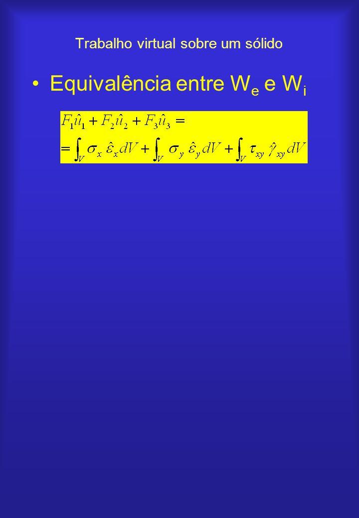 Trabalho virtual sobre um sólido Equivalência entre W e e W i