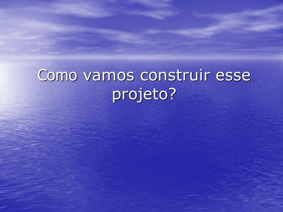 Como vamos construir esse projeto?