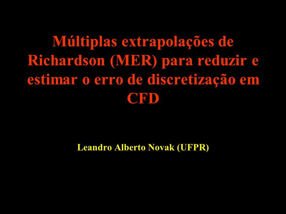 Múltiplas extrapolações de Richardson (MER) para reduzir e estimar o erro de discretização em CFD Leandro Alberto Novak (UFPR)