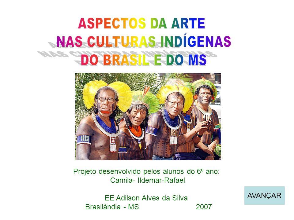 Projeto desenvolvido pelos alunos do 6º ano: Camila- Ildemar-Rafael EE Adilson Alves da Silva Brasilândia - MS 2007 AVANÇAR