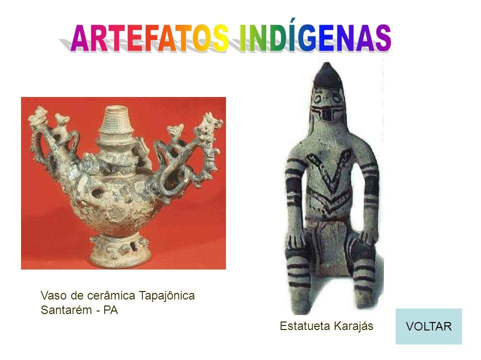 Vaso de cerâmica Tapajônica Santarém - PA Estatueta Karajás VOLTAR