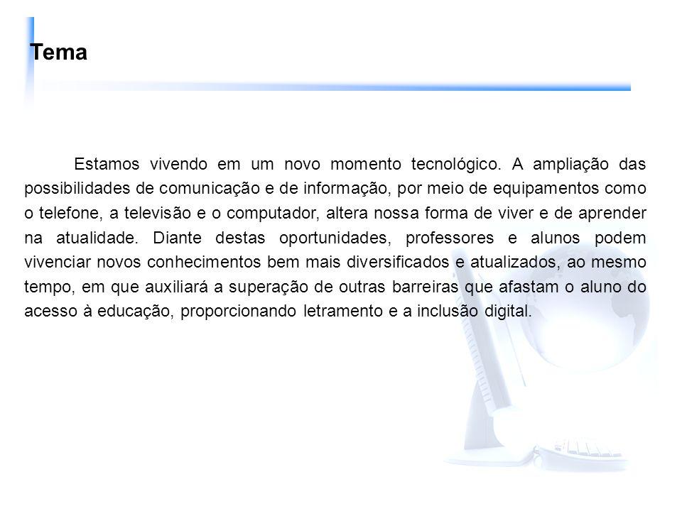 Dentro deste contexto, o computador está adquirindo importância crescente na Educação possibilitando ao educando desenvolver habilidades nas áreas motora, social, emocional, acadêmica.