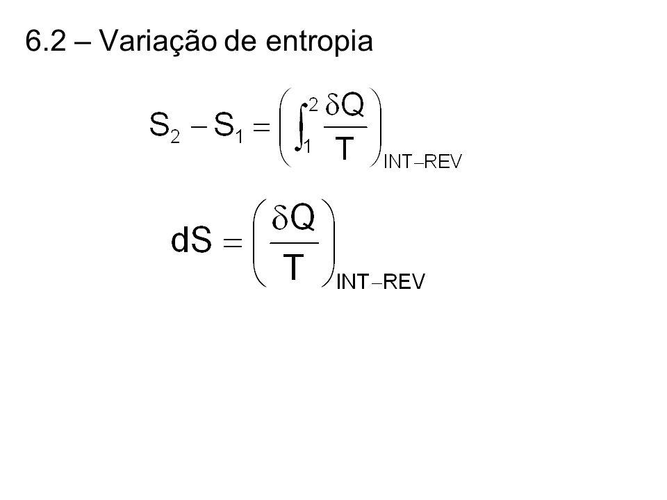 6.2 – Variação de entropia