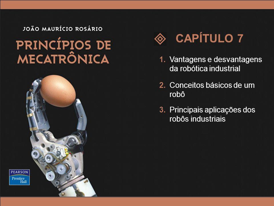 © 2005 by Pearson Education Princípios de Mecatrônica – João Maurício Rosário – © 2005 Pearson Education, Inc. 1.Vantagens e desvantagens da robótica