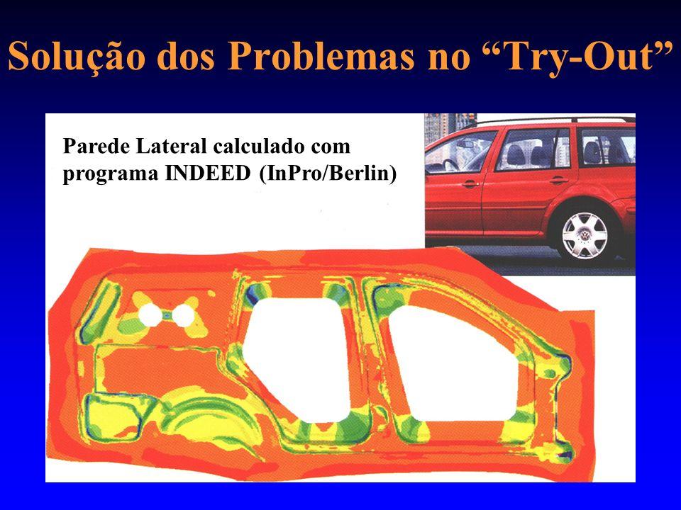 Solução dos Problemas no Try-Out Parede Lateral calculado com programa INDEED (InPro/Berlin)