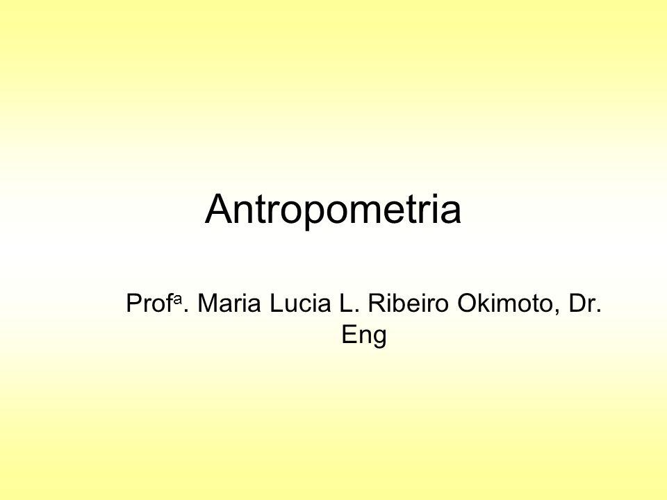 Antropometria Prof a. Maria Lucia L. Ribeiro Okimoto, Dr. Eng