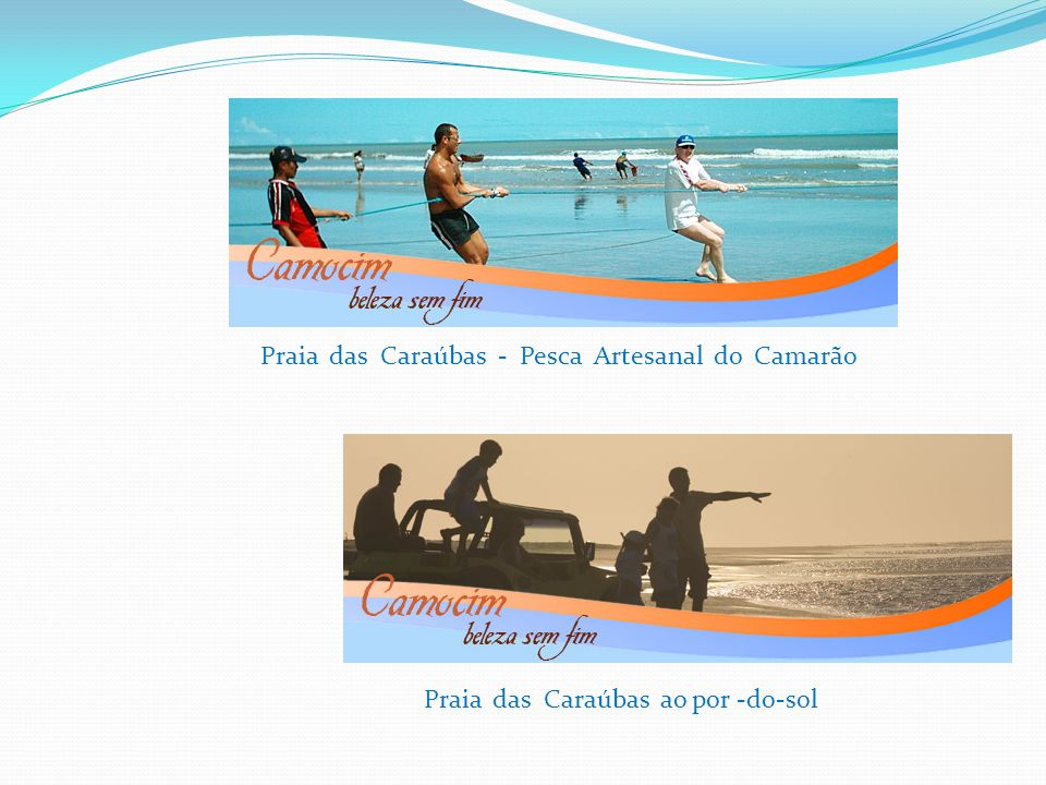 Praia das Caraúbas - Pesca Artesanal do Camarão Praia das Caraúbas ao por -do-sol