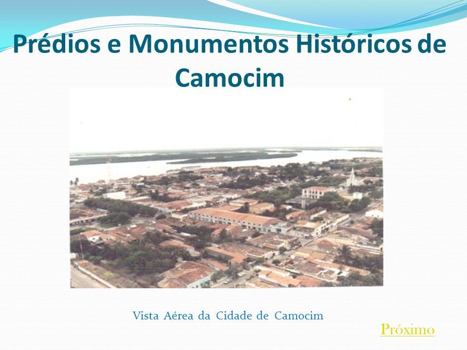 Prédios e Monumentos Históricos de Camocim Vista Aérea da Cidade de Camocim Próximo