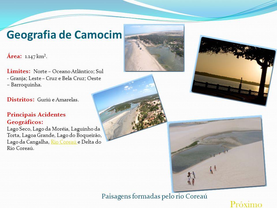 Principais Pontos Turísticos de Camocim Praia de Maceió Praia voltada para os turistas, com águas claras, limpas e mornas perfeitas para o banho.