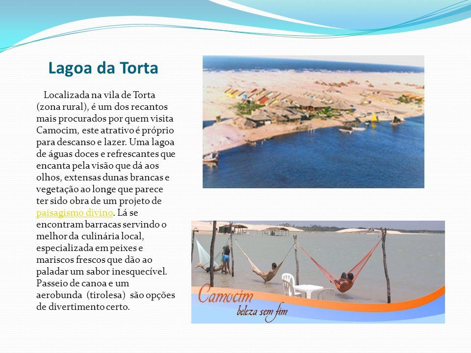 Lagoa da Torta Localizada na vila de Torta (zona rural), é um dos recantos mais procurados por quem visita Camocim, este atrativo é próprio para desca