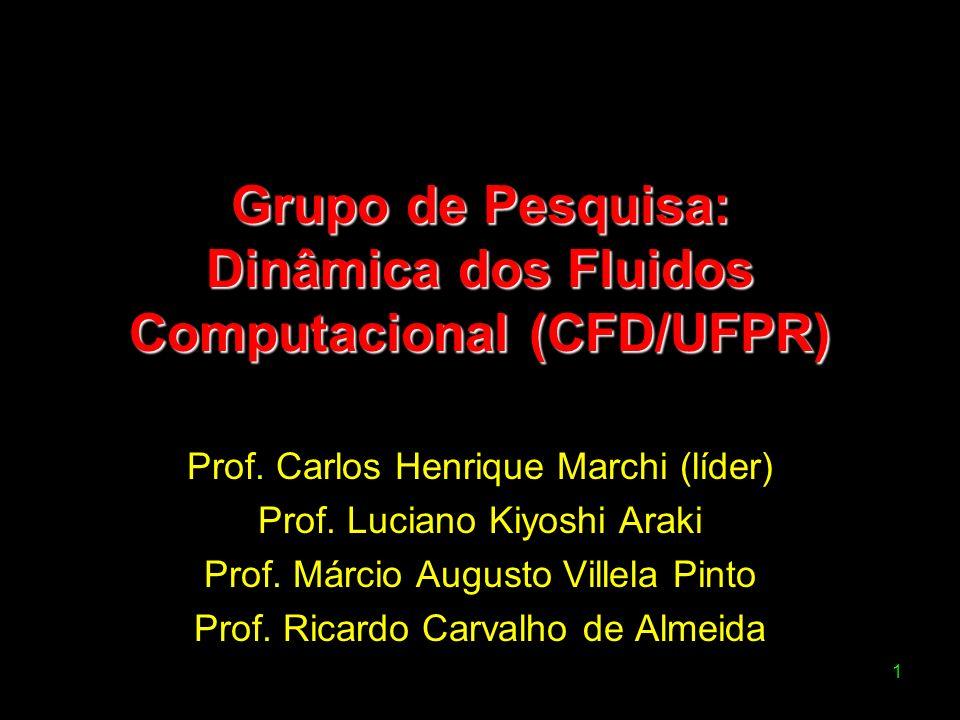 1 Grupo de Pesquisa: Dinâmica dos Fluidos Computacional (CFD/UFPR) Prof. Carlos Henrique Marchi (líder) Prof. Luciano Kiyoshi Araki Prof. Márcio Augus
