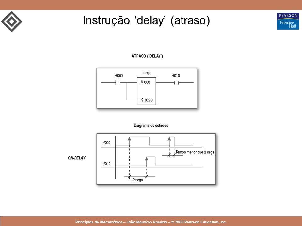 © 2005 by Pearson Education Princípios de Mecatrônica – João Maurício Rosário – © 2005 Pearson Education, Inc. Instrução delay (atraso)