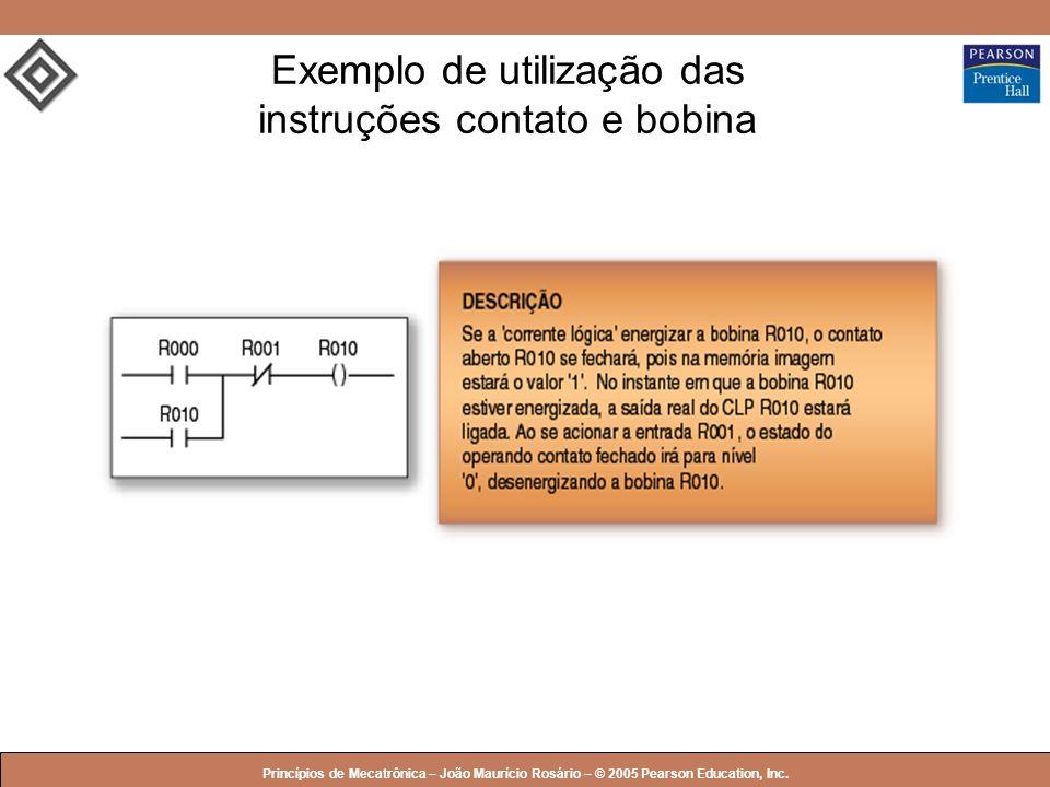 © 2005 by Pearson Education Princípios de Mecatrônica – João Maurício Rosário – © 2005 Pearson Education, Inc. Exemplo de utilização das instruções co