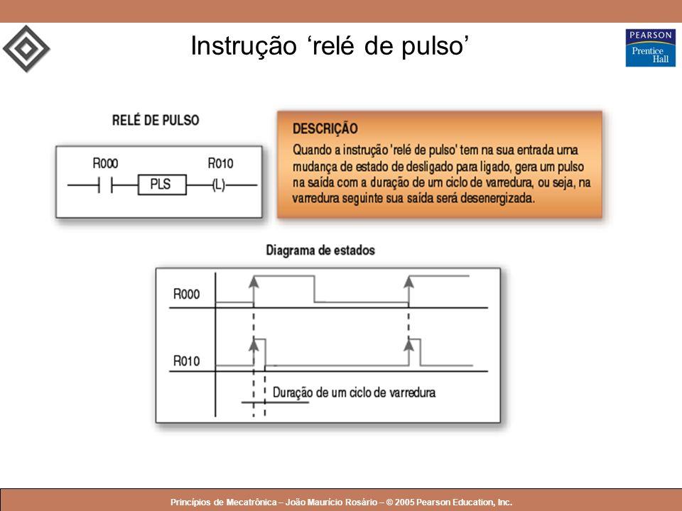 © 2005 by Pearson Education Princípios de Mecatrônica – João Maurício Rosário – © 2005 Pearson Education, Inc. Instrução relé de pulso