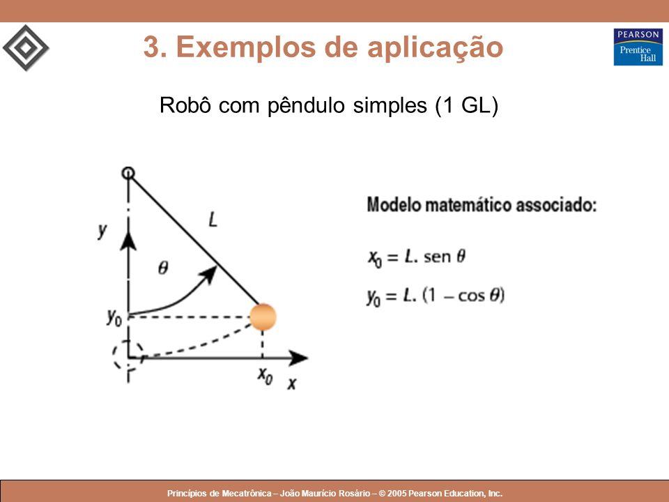 © 2005 by Pearson Education Princípios de Mecatrônica – João Maurício Rosário – © 2005 Pearson Education, Inc. 3. Exemplos de aplicação Robô com pêndu