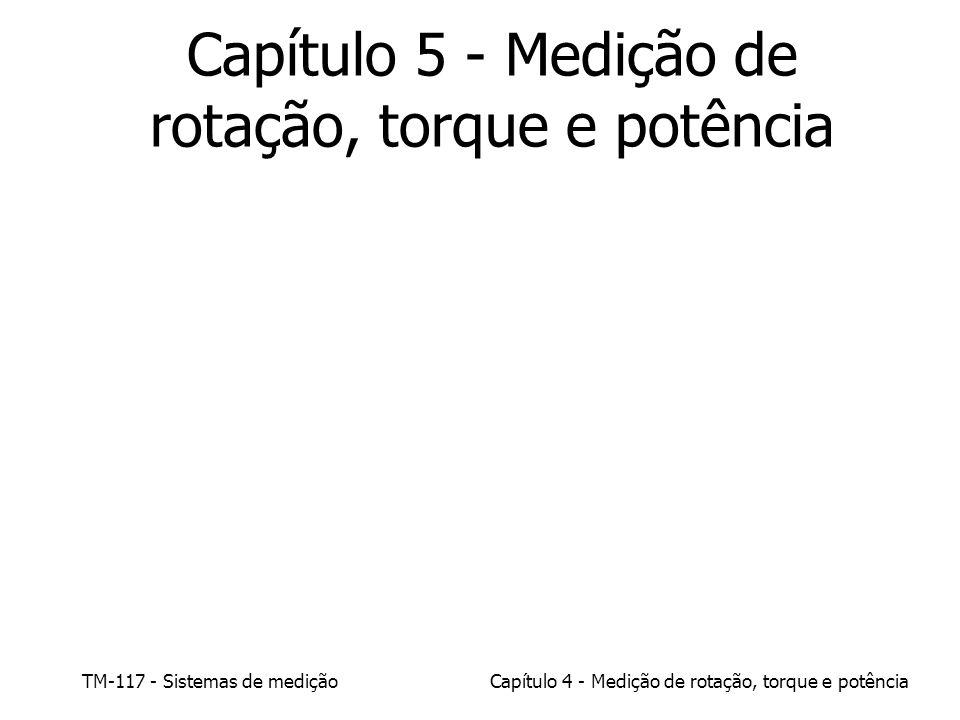 TM-117 - Sistemas de mediçãoCapítulo 4 - Medição de rotação, torque e potência Capítulo 5 - Medição de rotação, torque e potência