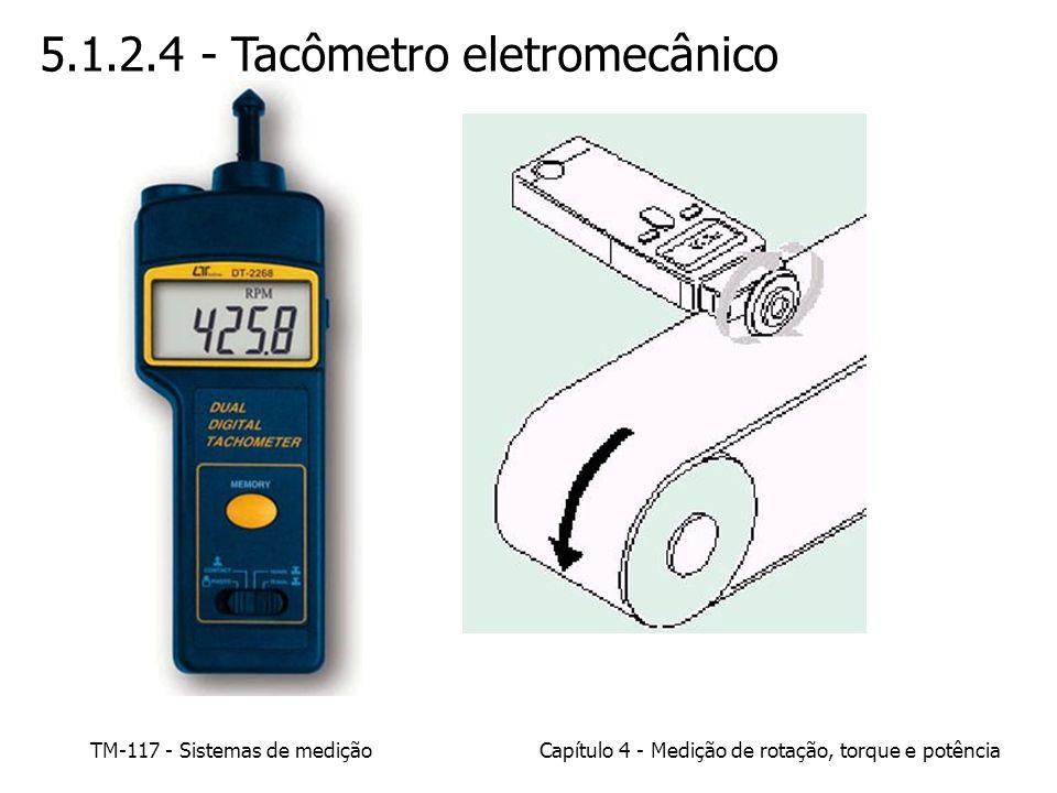 TM-117 - Sistemas de mediçãoCapítulo 4 - Medição de rotação, torque e potência 5.1.2.4 - Tacômetro eletromecânico