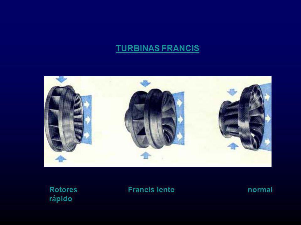 TURBINAS FRANCIS Rotores Francis lento normal rápido