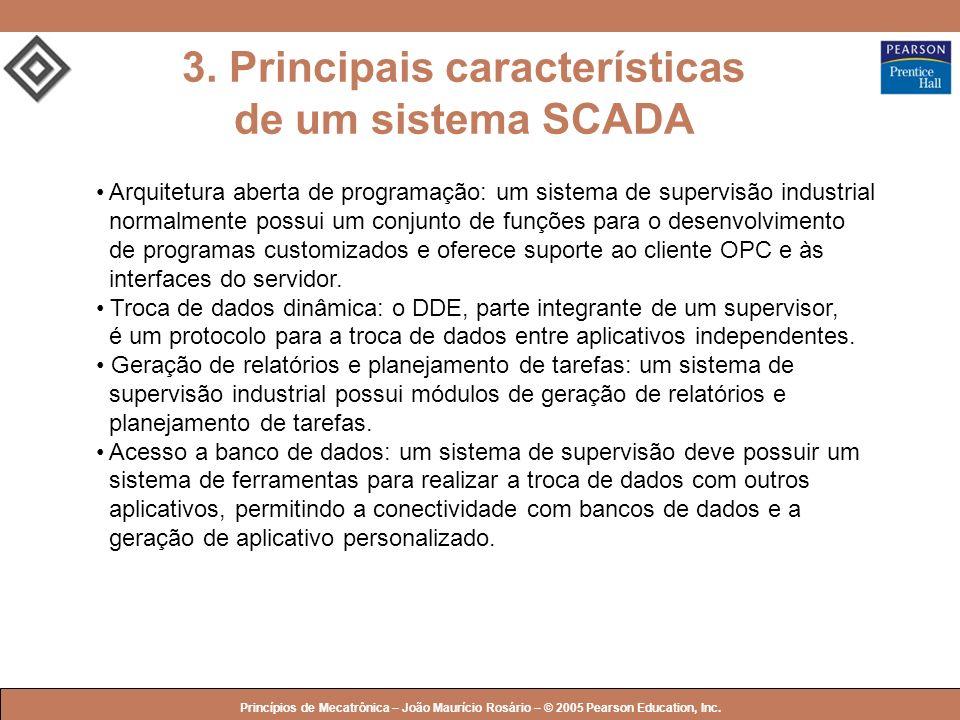 © 2005 by Pearson Education Princípios de Mecatrônica – João Maurício Rosário – © 2005 Pearson Education, Inc. 3. Principais características de um sis
