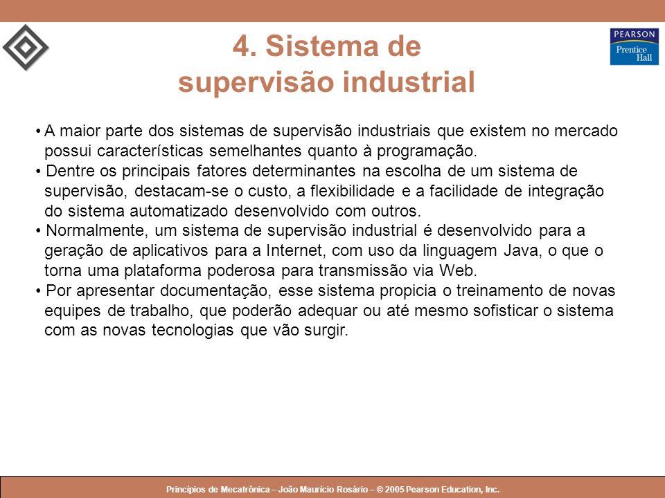 © 2005 by Pearson Education Princípios de Mecatrônica – João Maurício Rosário – © 2005 Pearson Education, Inc. 4. Sistema de supervisão industrial A m