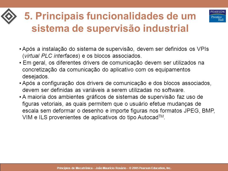 © 2005 by Pearson Education Princípios de Mecatrônica – João Maurício Rosário – © 2005 Pearson Education, Inc. 5. Principais funcionalidades de um sis