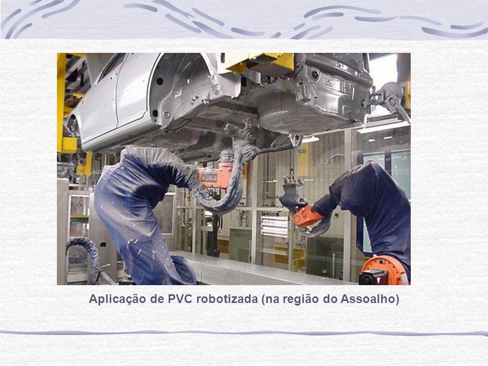 Aplicação de PVC robotizada (na região do Assoalho)