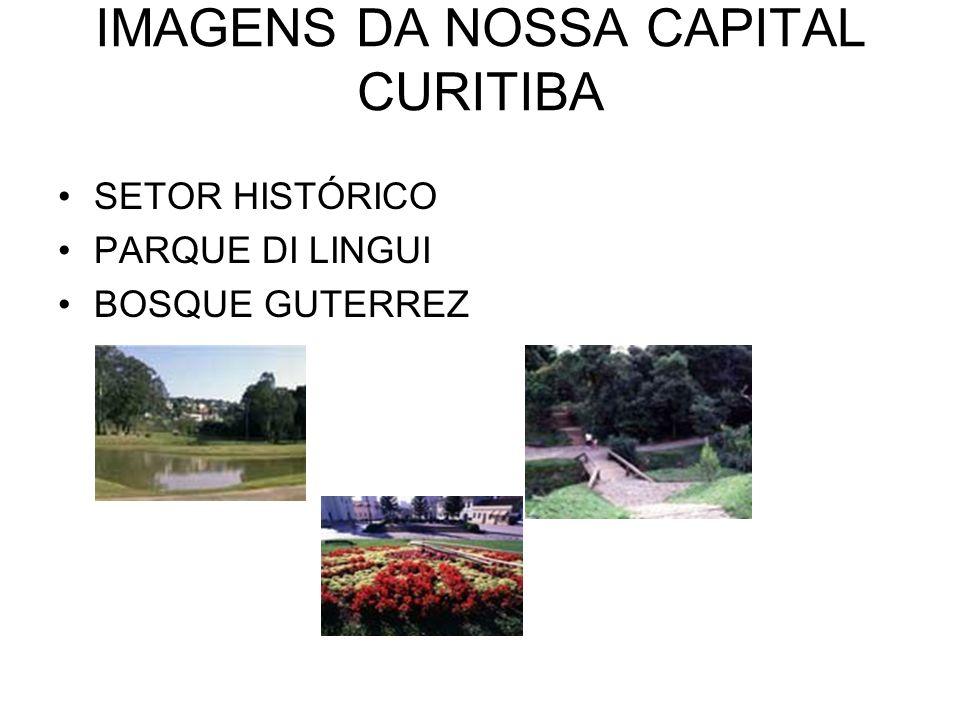 IMAGENS DA NOSSA CAPITAL CURITIBA SETOR HISTÓRICO PARQUE DI LINGUI BOSQUE GUTERREZ