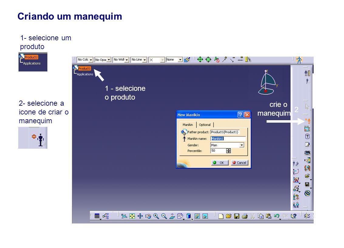 Criando um manequim crie o manequim 1 - selecione o produto 2 1- selecione um produto 2- selecione a icone de criar o manequim