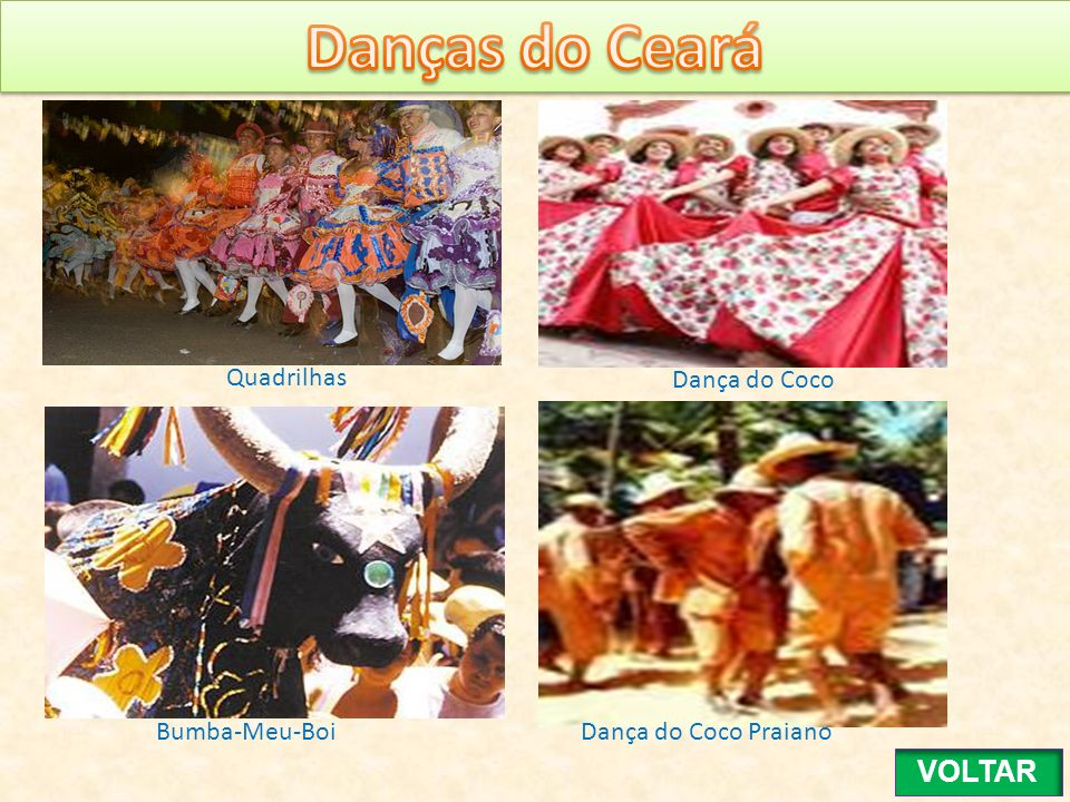 Quadrilhas Dança do Coco Bumba-Meu-Boi Dança do Coco Praiano VOLTAR