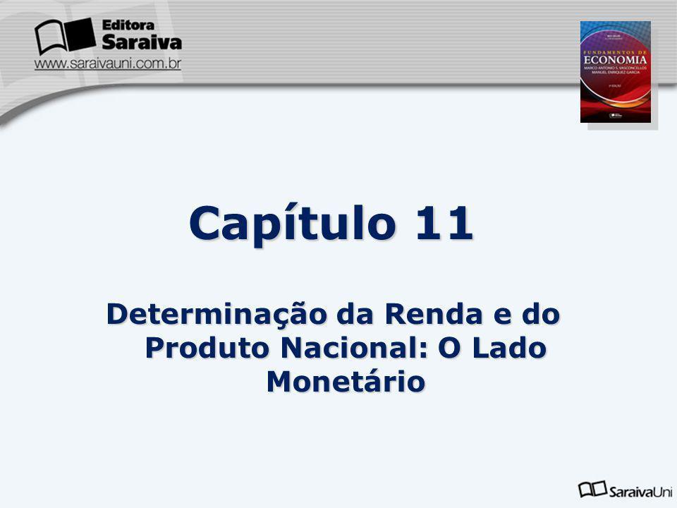 Capítulo 11 Determinação da Renda e do Produto Nacional: O Lado Monetário 11.1 Conceito de Moeda: objeto aceito pela coletividade para intermediar as transações econômicas para o pagamento de bens e serviços.