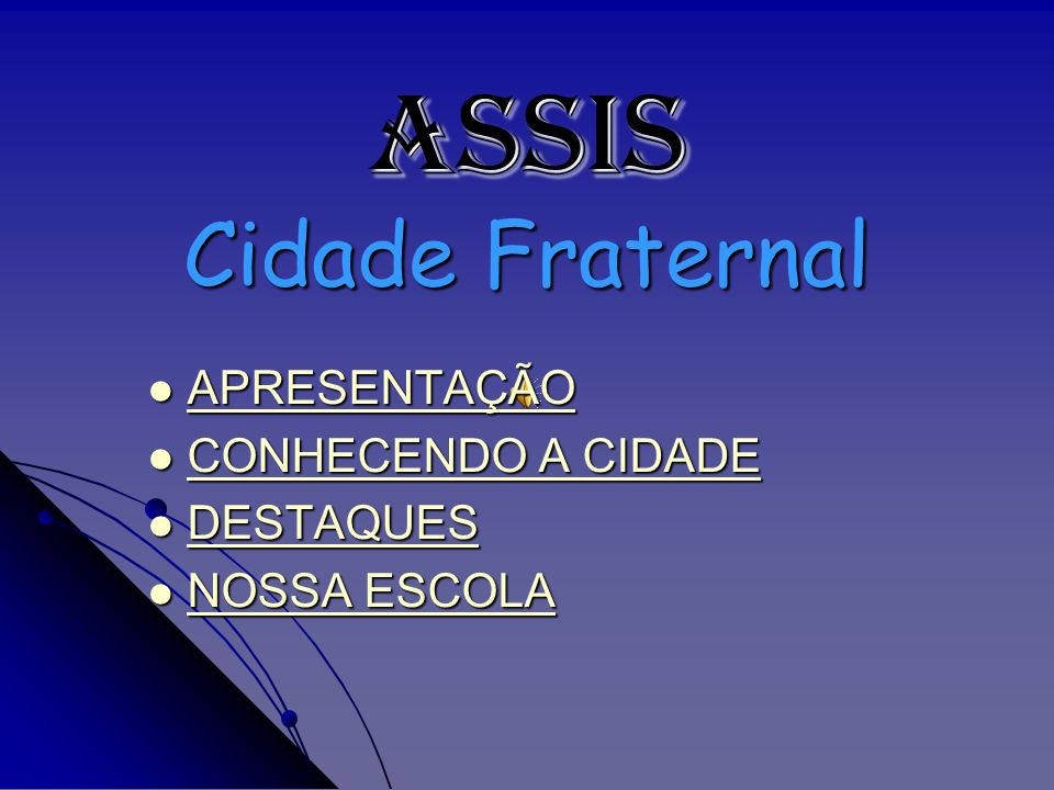 Localizado no Sudoeste Paulista, o município de Assis tem como principal via de acesso a Rodovia Raposo Tavares, situada à 448 Km da Capital.