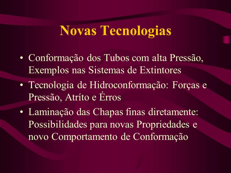 Novas Tecnologias Conformação dos Tubos com alta Pressão, Exemplos nas Sistemas de Extintores Tecnologia de Hidroconformação: Forças e Pressão, Atríto