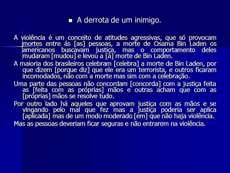 Qual o peso do erro de português.