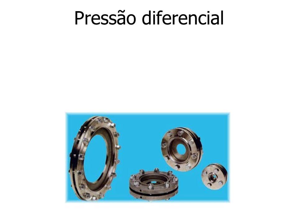 7.3 – Medidores de pressão diferencial Neste tipo de medidor o fluxo de fluido ao passar pelo elemento primário sofre uma restrição que lhe obriga a mudar de velocidade provocando um diferencial de pressão.