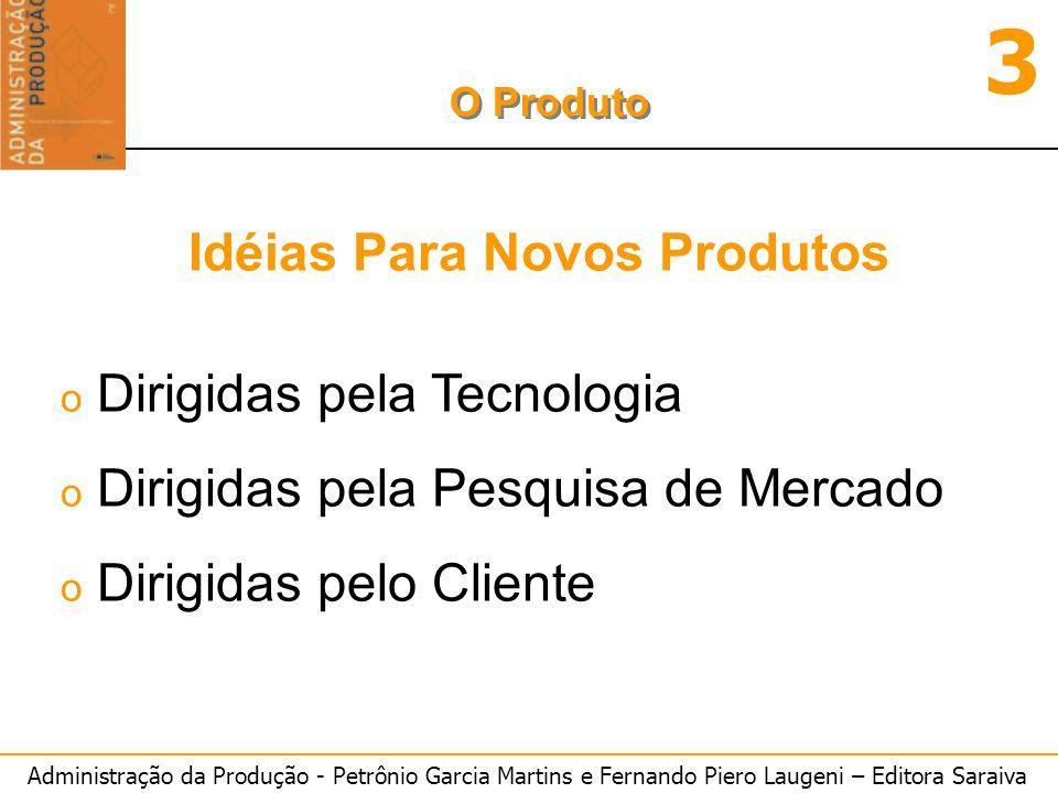 Administração da Produção - Petrônio Garcia Martins e Fernando Piero Laugeni – Editora Saraiva 3 O Produto o Dirigidas pela Tecnologia o Dirigidas pel