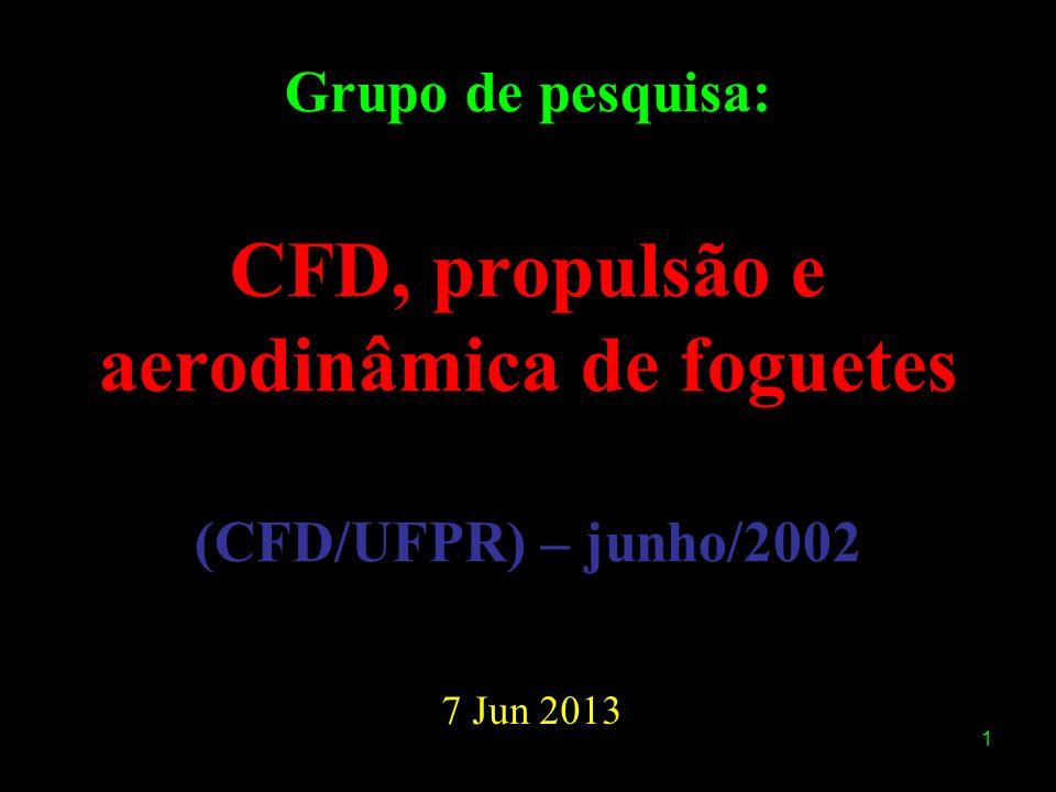 1 Grupo de pesquisa: CFD, propulsão e aerodinâmica de foguetes (CFD/UFPR) – junho/2002 7 Jun 2013
