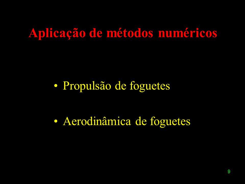 9 Aplicação de métodos numéricos Propulsão de foguetes Aerodinâmica de foguetes