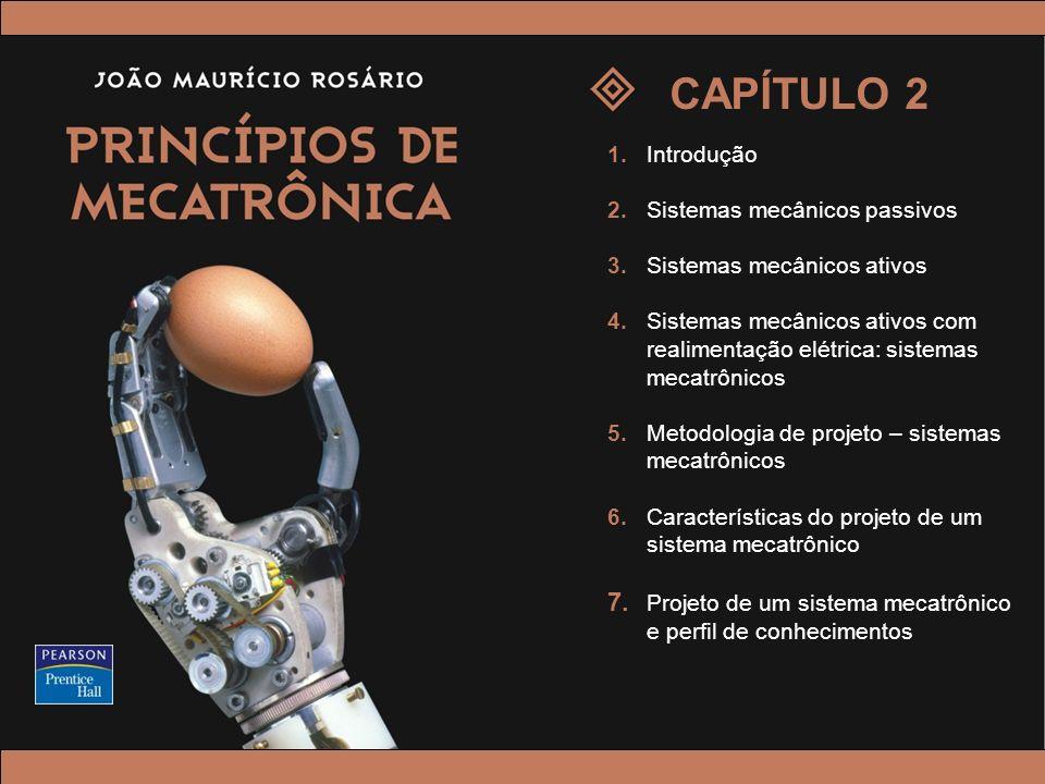 © 2005 by Pearson Education Princípios de Mecatrônica – João Maurício Rosário – © 2005 Pearson Education, Inc. 1.Introdução 2.Sistemas mecânicos passi