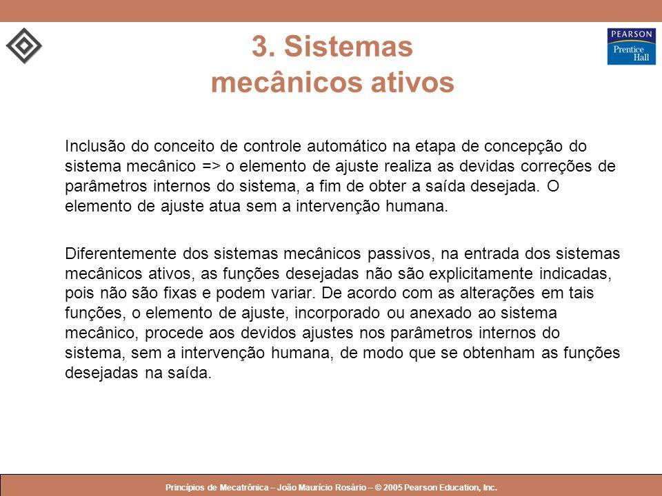 © 2005 by Pearson Education Princípios de Mecatrônica – João Maurício Rosário – © 2005 Pearson Education, Inc. Inclusão do conceito de controle automá
