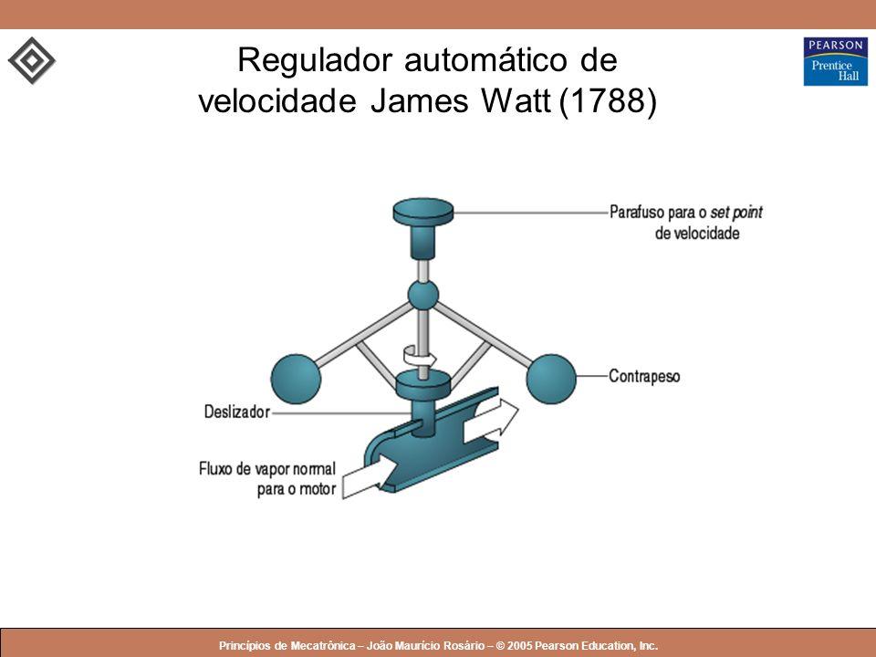 © 2005 by Pearson Education Princípios de Mecatrônica – João Maurício Rosário – © 2005 Pearson Education, Inc. Regulador automático de velocidade Jame