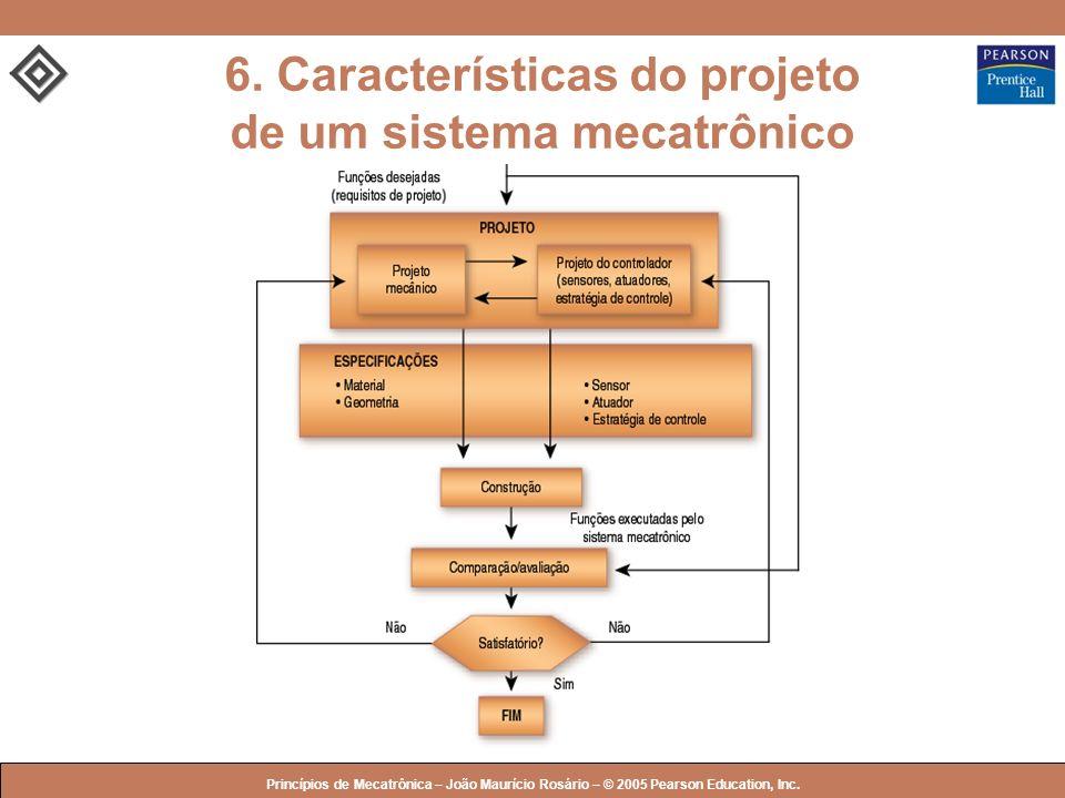© 2005 by Pearson Education Princípios de Mecatrônica – João Maurício Rosário – © 2005 Pearson Education, Inc. 6. Características do projeto de um sis