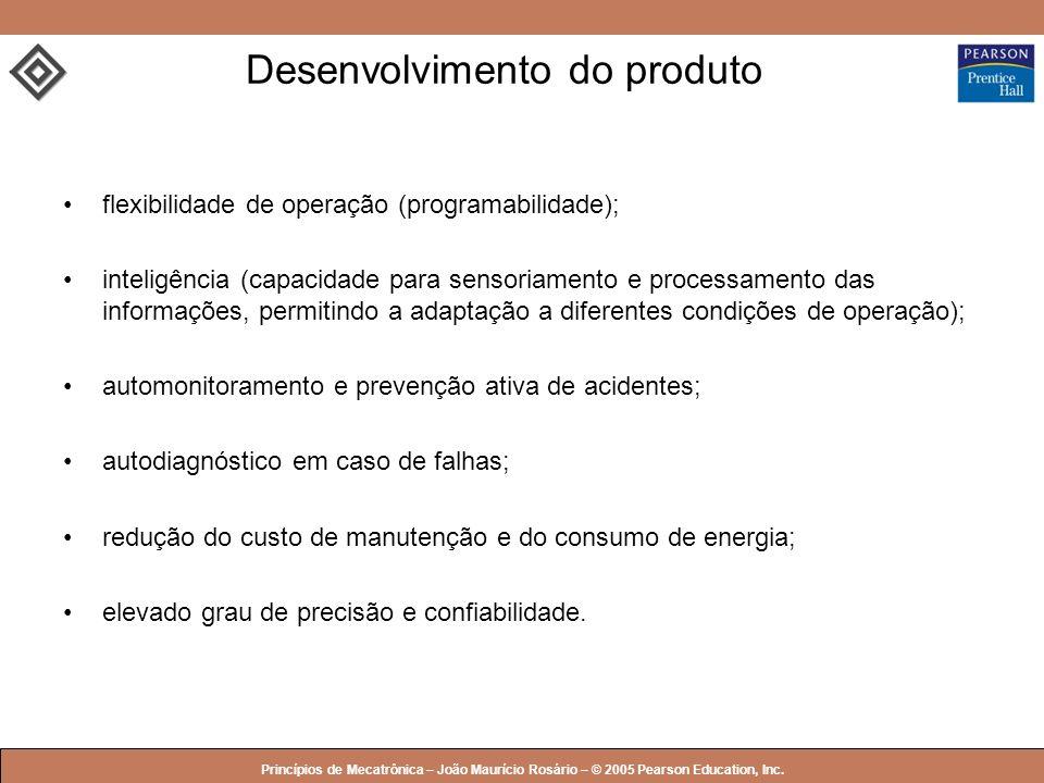 © 2005 by Pearson Education Princípios de Mecatrônica – João Maurício Rosário – © 2005 Pearson Education, Inc. Desenvolvimento do produto flexibilidad