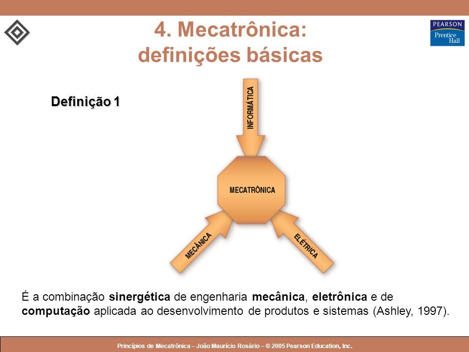 © 2005 by Pearson Education Princípios de Mecatrônica – João Maurício Rosário – © 2005 Pearson Education, Inc. É a combinação sinergética de engenhari