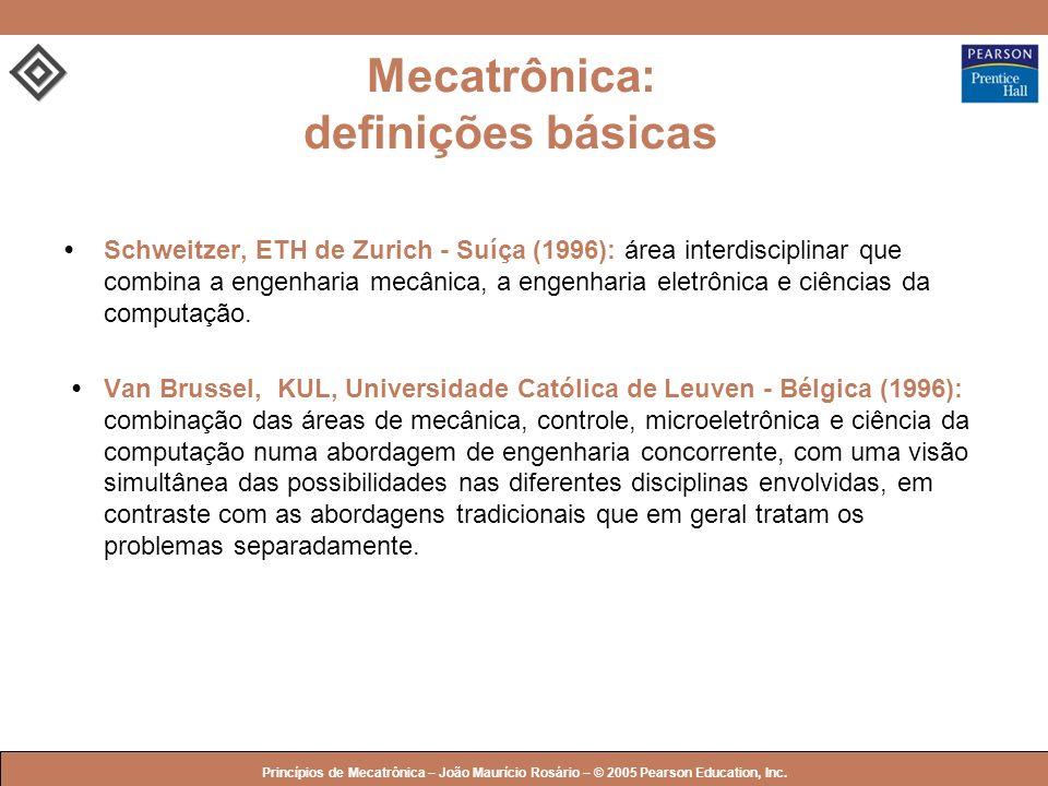 © 2005 by Pearson Education Princípios de Mecatrônica – João Maurício Rosário – © 2005 Pearson Education, Inc. Mecatrônica: definições básicas Schweit