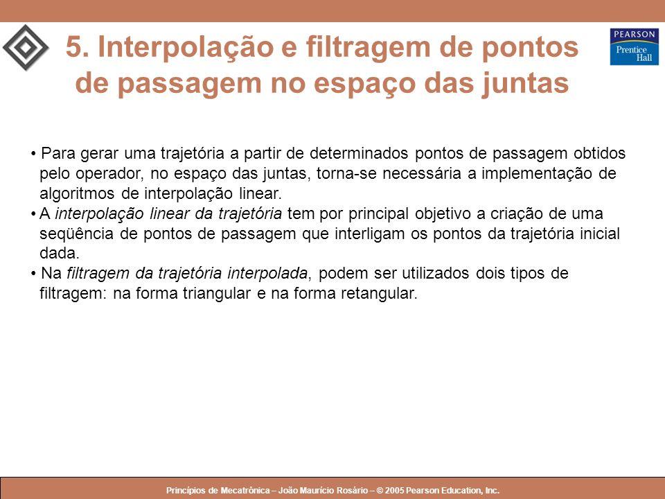 © 2005 by Pearson Education Princípios de Mecatrônica – João Maurício Rosário – © 2005 Pearson Education, Inc. 5. Interpolação e filtragem de pontos d